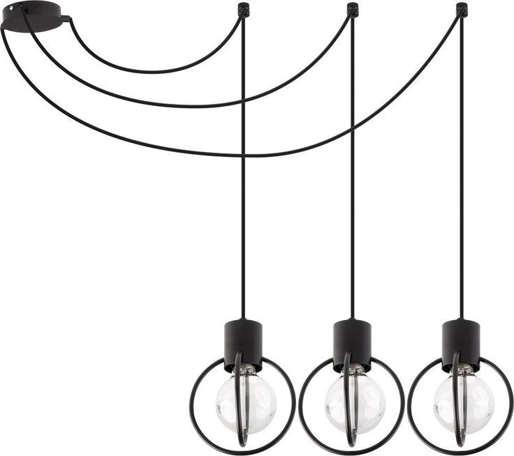 LAMPA WISZĄCA PAJĄK ZWIS SIGMA AURA 31085 CZARNA METALOWA LOFT VINTAGE PRĘT