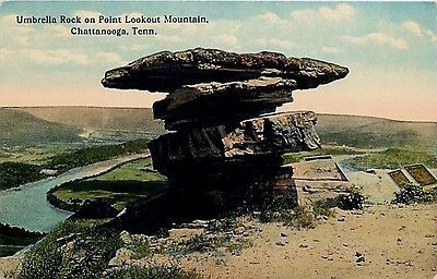 Chattanooga Tennessee TN 1909 Umbrella Rock Point Lookout Mountain Postcard