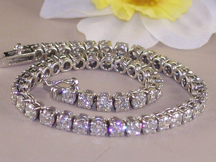 Diamond tennis bracelet 9,18ct.
