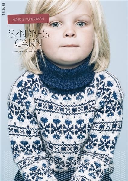 Tema 38 Norske Ikoner Barn #SandnesGarn #Norsk #Klassiker #strikk
