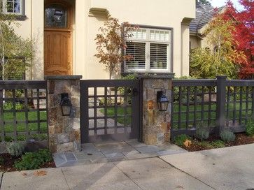 ITraditional Home front yard fences Design Ideas, Pictures, Remodel and Decor