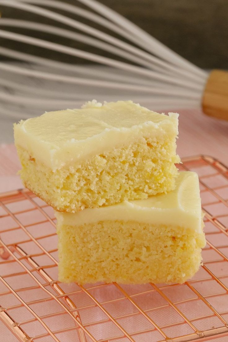 The easiest and most delicious baked Lemon Slice ever.... with the BEST creamy & tangy lemon frosting - this is such a quick, simple and classic recipe.  #lemon #lemonslice #slice #thermomix #simple #recipe #lunchbox #kids #snacks #baking