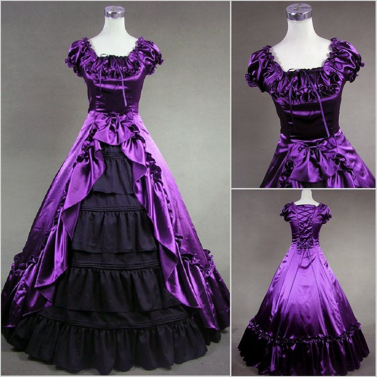 Hot Sale Sweetheart Corset Gothic Purple Wedding Dress: 28 Best Images About Civil War Ball Gowns On Pinterest