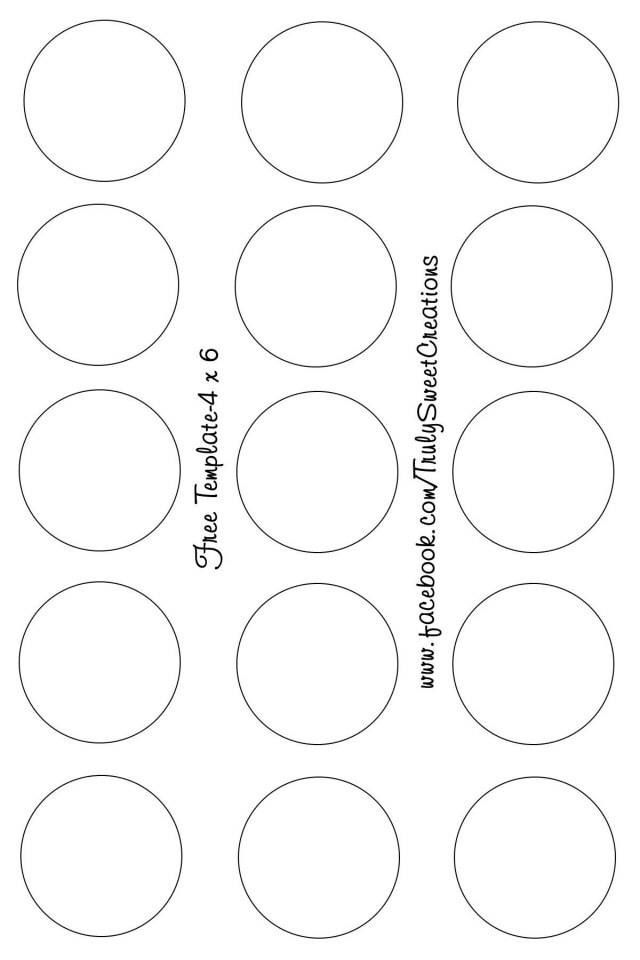 4x6 Bottle Cap Template