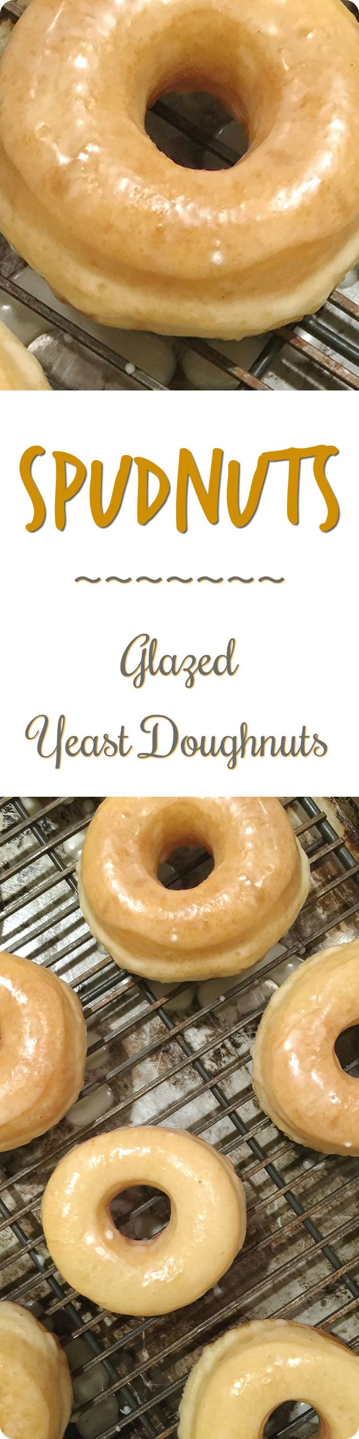 """Spudnuts (Glazed Yeast Doughnuts) 