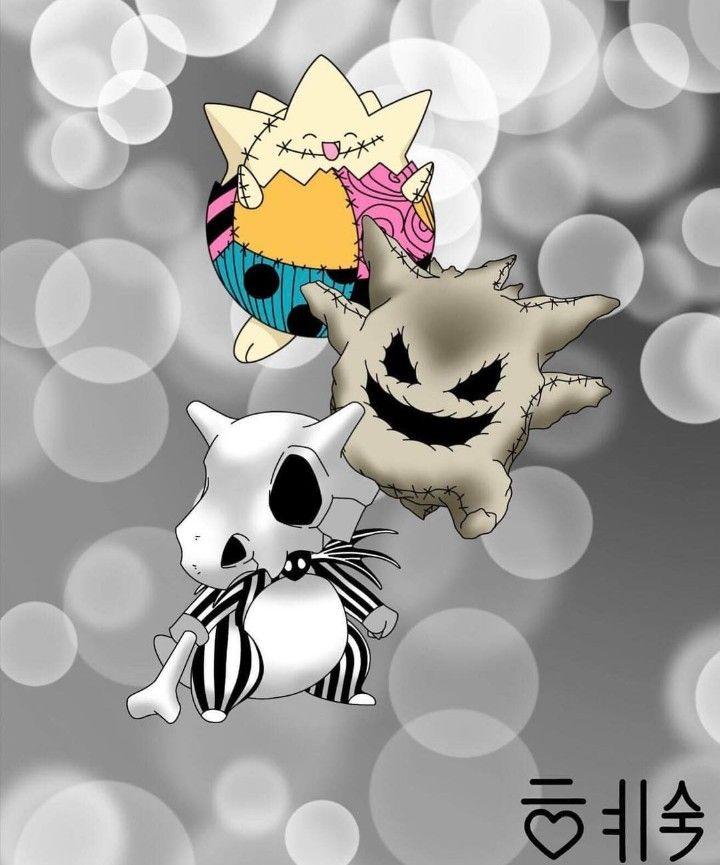080abdb0 Togepi, Gengar & Cubone - A Nightmare Before Christmas, Pokemon Halloween