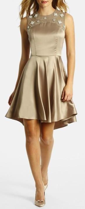 A golden dress.