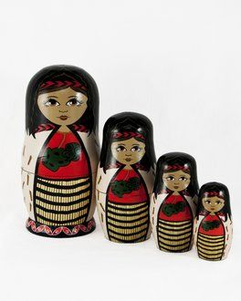 A truely unique gift. Fun for kids to play with and perfect decore for a kids bedroom. These Caroline Mitchell collectable stacking dolls are are made to the highest quality.  Each one is crafted from wood turned locust and hand finished using paint and appliqués.  Lovingly made in NZ.
