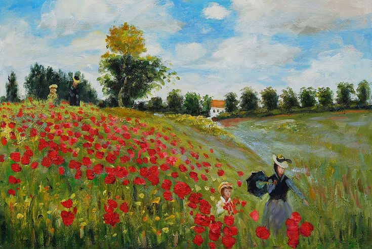 monet poppy field original - Szukaj w Google