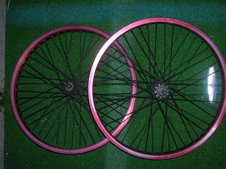 "BMX 20"" Aluminum Bike Tire Rims MDA 20X406 AL 6061 RED #MDA20X406AL6061"