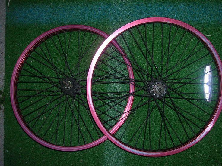 """BMX 20"""" Aluminum Bike Tire Rims MDA 20X406 AL 6061 RED #MDA20X406AL6061"""