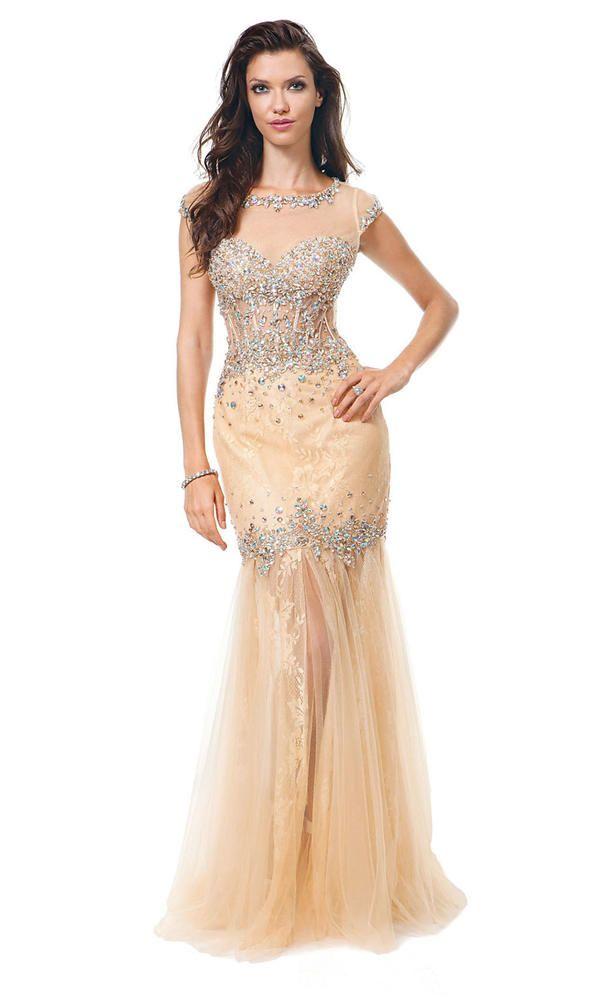 13 best beaded long prom dresses 2015 images on Pinterest | Prom ...
