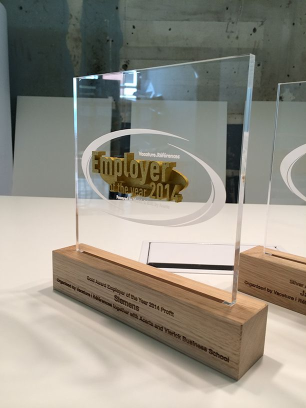 3D Printed Trophy - Employer of The Year - Twikit Specials