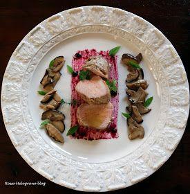 Filetto di maiale con porcini e salsa di mirtilli