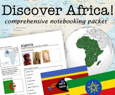 complete africa notebooking packet. AWESOME Africa study for when the girls get older. Possible 3rd and 5th grade $15.00