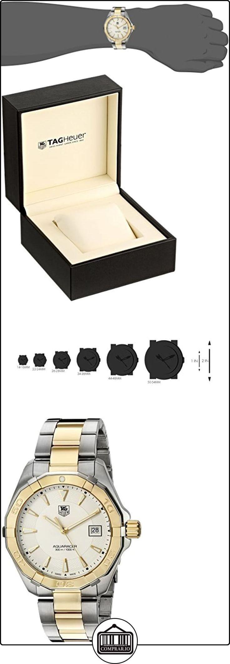 """TAG Heuer de hombre """"aquaracracer Swiss Quartz oro y acero inoxidable reloj de vestido, color: dos tono (modelo: way1120. bb0930) de  ✿ Relojes para hombre - (Lujo) ✿"""