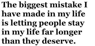 biggest mistake. so true!