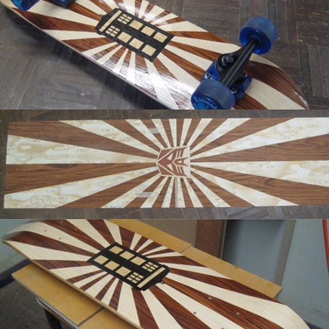 A few cool kids from a local school have created these skateboards did their HSC assessments, using NAV Enviroven™ veneers.