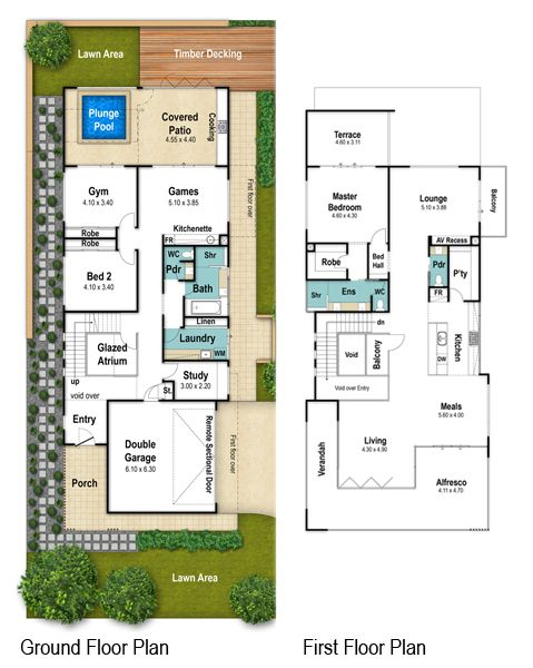 Headland two storey floor plans by Boyd Design Perth. Let's design your next home.