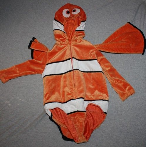 Disney store finding nemo clown fish halloween costume xxs for Clown fish costume