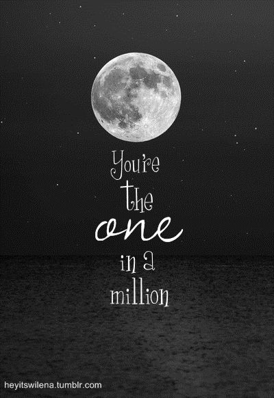 I know someone who is that one in a million ... #one_in_a_million #moon