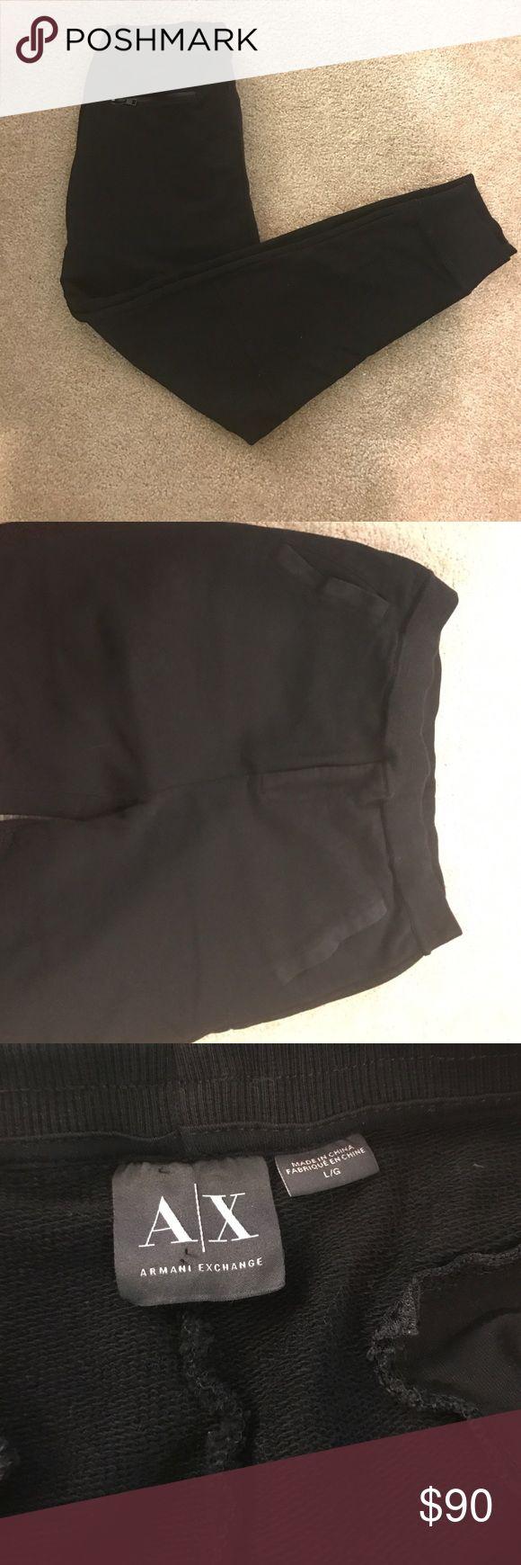 ✔️Armani Exchange Men's black sweatpants pants✔️ For sale Armani Exchange black sweatpants,with pockets,new without tags!! A/X Armani Exchange Pants Sweatpants & Joggers