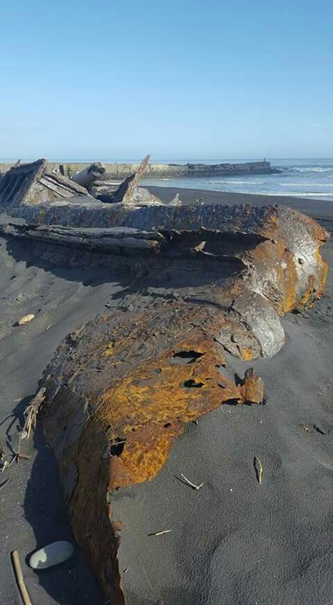 1923 Shipwreck Pages Beach .  Details at Aotea  Utanganui Museum Patea