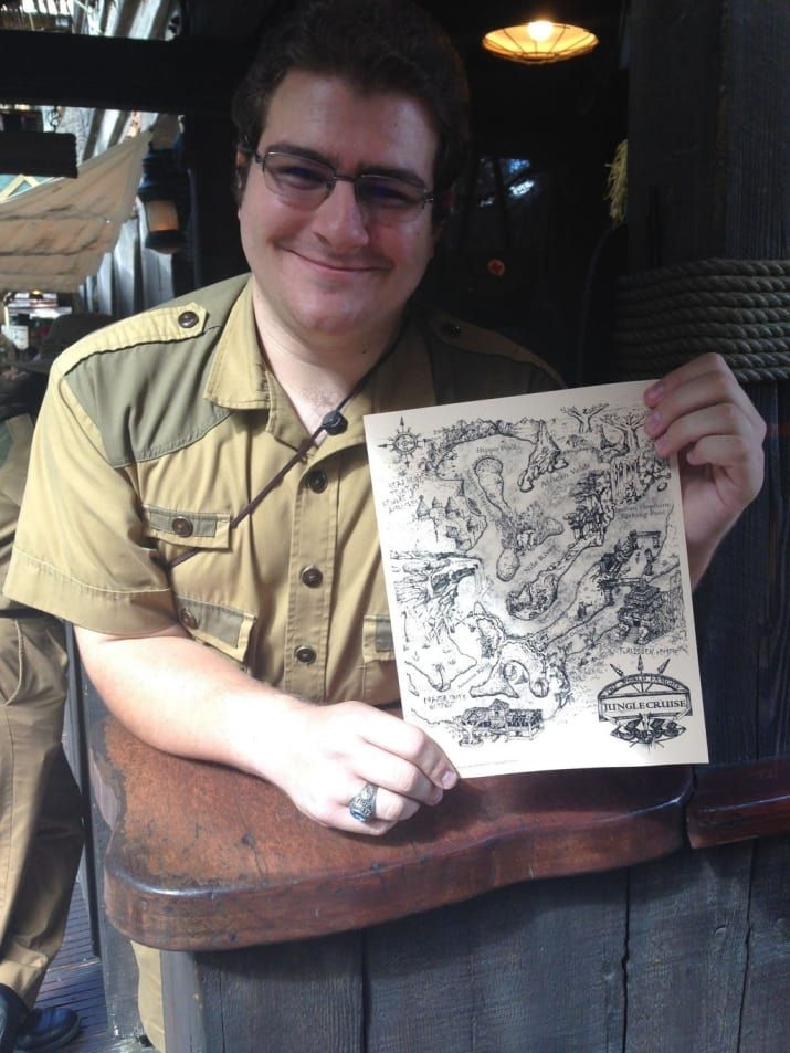 At the end of the Jungle Cruise, ask one of the cast members for an awesome free map. You may have to tell them a joke or do a trick in exchange but it's worth it.
