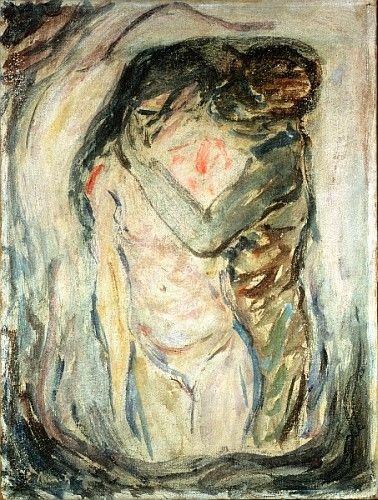 Edvard Munch | The Kiss, c.1910