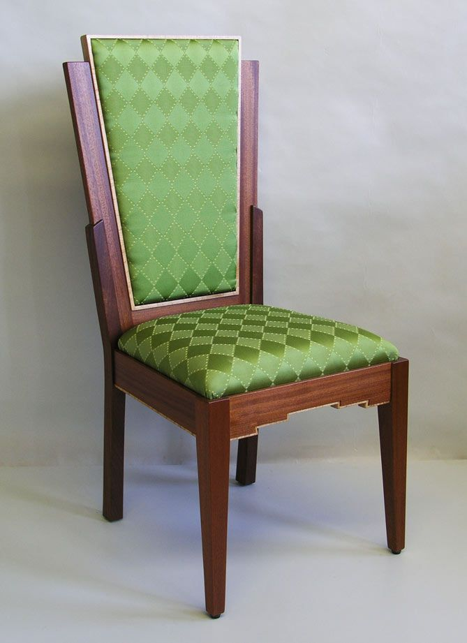 art deco furniture | art deco dining room chair.  make it blue and we are in.