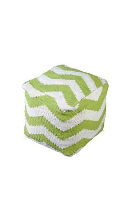 Rugs Usa Poufs Cotton Chindi Chevron Pouf Green Ottoman Discount Home Decor Interior