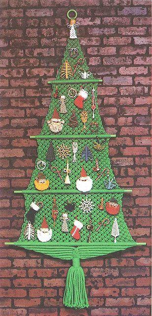 Arbol de Navidad tejido