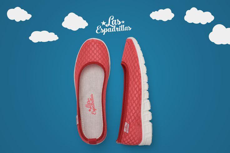 Красные балетки Las Espadrillas Motion Foam. Дышащий материал, что повторяет каждый ваш шаг. #sport #shoes #Ballerinas #girl #women #footwear