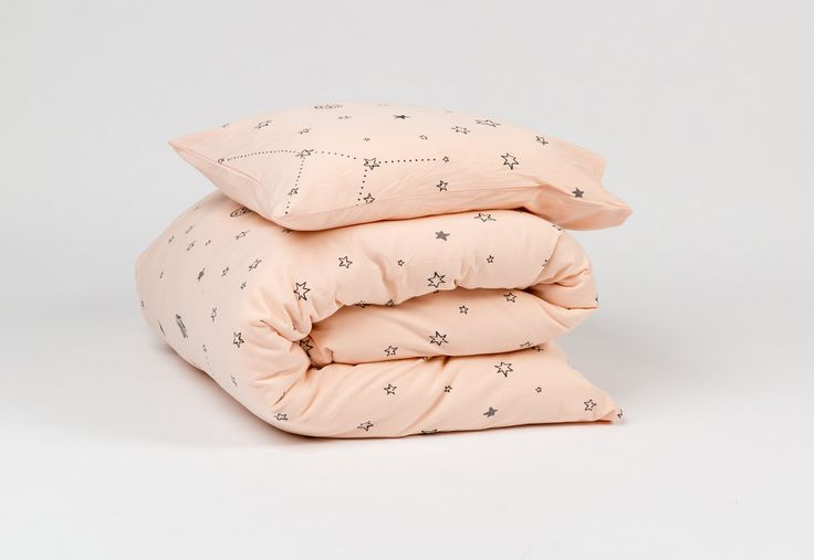 Baby Bedding Set 3PC fitted crib sheet dovet cover and small pillow case Stars print Peach girl Nursery Decor bedding 100% Egyptian cotton . sheet kids baby nursery decor Kids Bedding pink children toddler ndoto pastel peach baby bedding stars print 86.00 USD #goriani