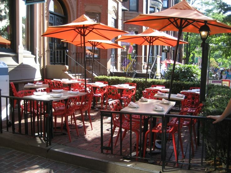 Perfect Restaurant Patio Furniture Outdoor Furniture: Restaurant Outdoor Furniture  Orange Umberella | Patio Furniture Ideas | Pinterest | Restaurant Patio, ... Pictures