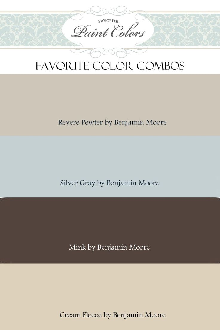 Favorite Paint Colors: Color Combination for Revere Pewter. Master bedroom