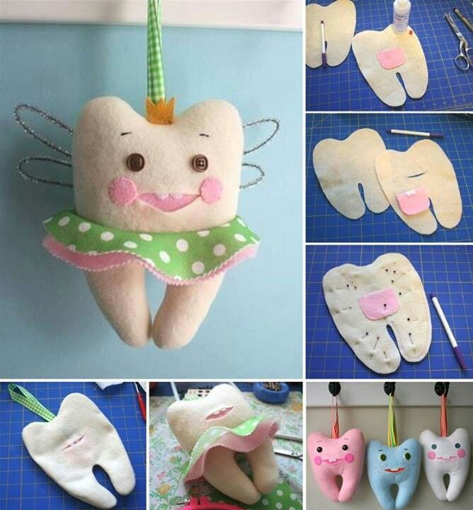 Diy little tooth pillow