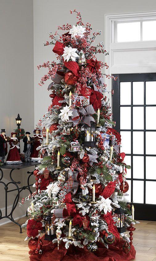 Arboles de navidad color rojo arboles de navidad rojo y - Arbol navidad colores ...
