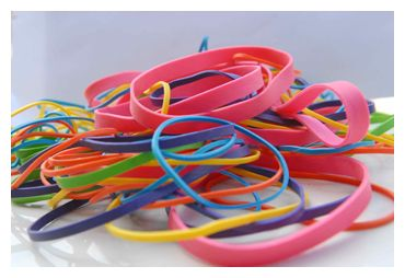 Rubber bands, large rubber bands, pallet bands from Dykema Rubber Band.