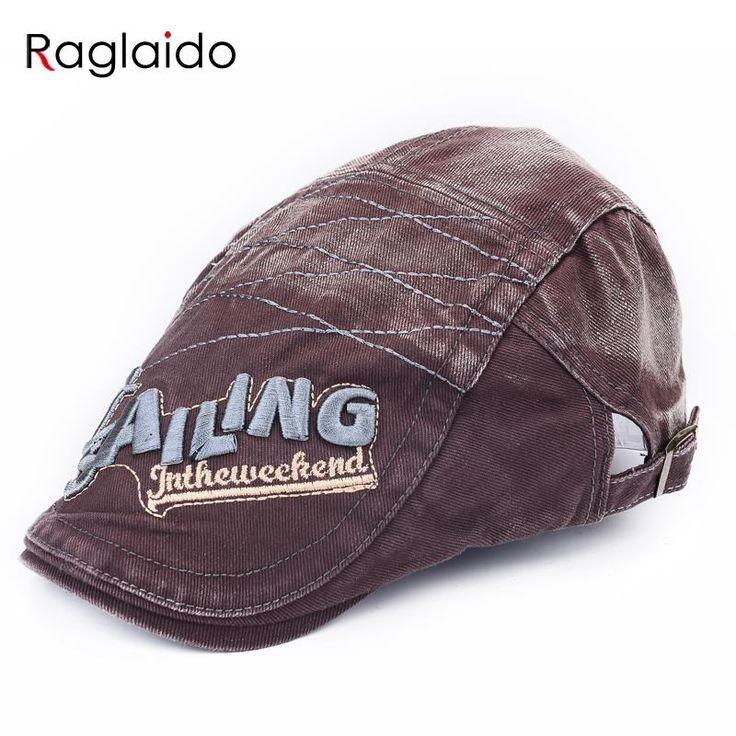 Raglaido Men Hat Visor Cap Adjustable Berets Cotton Embroidery Baseball Cap Washable Sports Casual Hats casquette LQJ01181