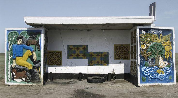 quibbll.com - Кристофер Хервиг (Christopher Herwig): Советская автобусная остановка - Казахстан, г. Талдыкорган