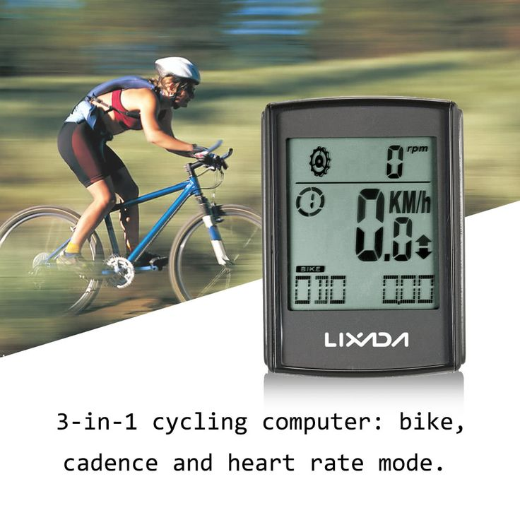 Lixada 3-in-1 Wireless LCD Bicycle Cycling Sales Online black - Tomtop.com