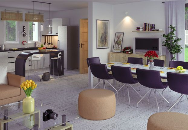 Il y a trois chambres pour ce modèle de maison individuelle nommé ...