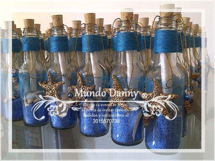 Invitaciones en Botella para todo tipo de evento social. Invitation in a bottle