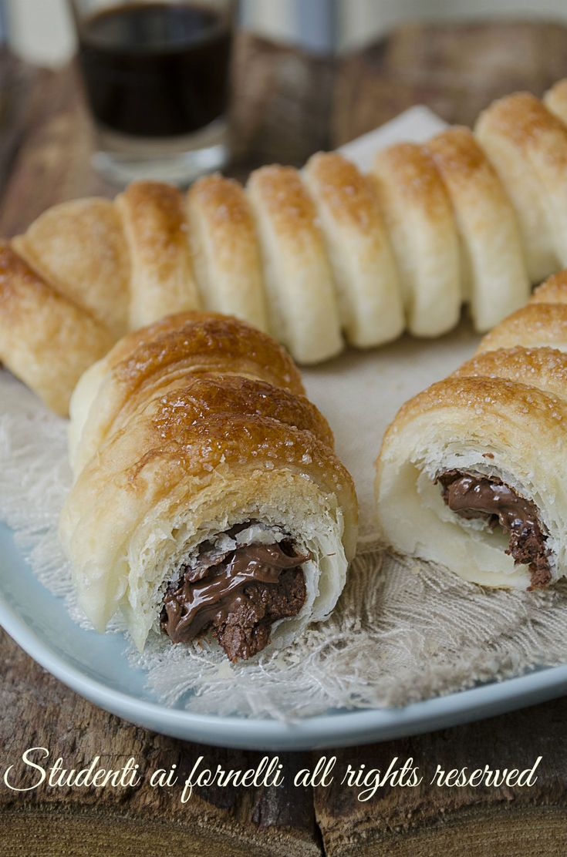 ricetta cannoli di sfoglia alla nutella ricetta dolce veloce facile merenda…