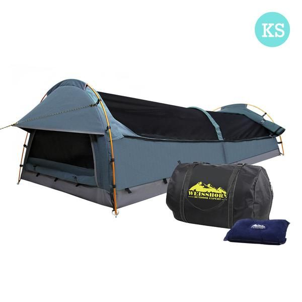 Navy King Single Swag With Mattress & Air Pillow