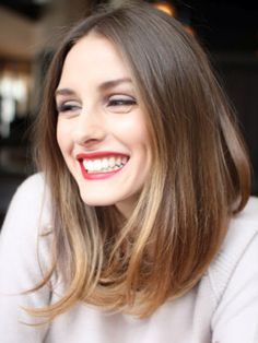 red  long bob | long bob + red lips l olivia palermo.