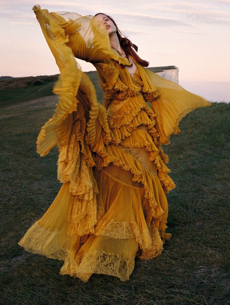 "lustambitions: "" bvlgaria: "" Julia Banas in 'Wuthering Heights' Photographer: Yelena Yemchuk Dress: Roberto Cavalli F/W 2016/17 Vogue China October 2016 "" Is this the Beyonce Hold Up dress… """