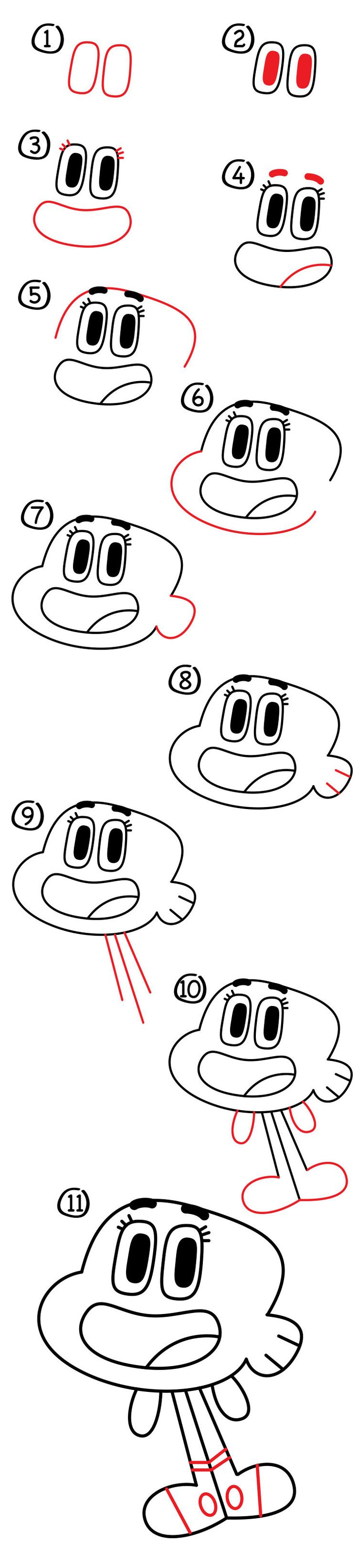 Learn how to draw Darwin from The Amazing World Of Gumball! He's easy to draw, just follow along with us. All you need is something to draw with!