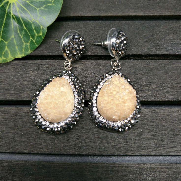 YNB Water Drop Crystal Earrings Fashion Gold Earrings for women Rhinestones Copper Alloy Dangle Earrings Woman Jewelry #Affiliate
